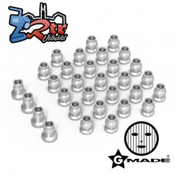 Juego de bolas de aluminio para chasis GS02 Plata Gmade GM30144