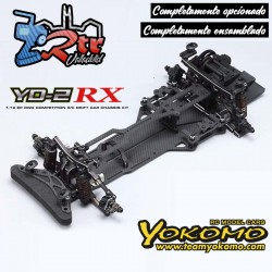 Yokomo YD-2RX RWD Drift Kit Negro Chasis Carbono +...