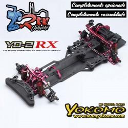 Yokomo YD-2RX RWD Drift Kit Rojo Chasis Carbono + Ensamblado + Opcionado