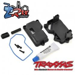 Caja del receptor y montaje de servo de dirección Traxxas TRA8324