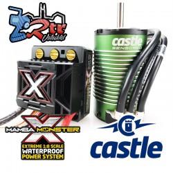 Castle Mamba Monster X Combo 1515-2650KV Brushless Sensores 25.2V ESC,8A Bec