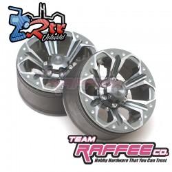 Llantas Team Raffee Co 6-Petals 1.9 Aluminio 2 Unidades
