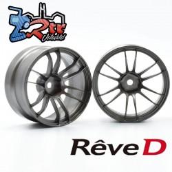 Llantas de competición Reve D UL12 Gris Metalico Offset 6mm 2 unidades