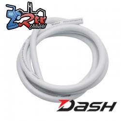 Cable Dash de Silicon 10AWG/2.6mm Blanco 1 Metro