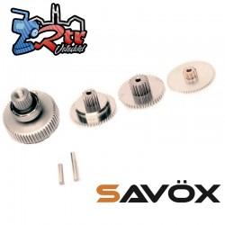 Juego de engranajes servo Savox SC-1256TG con cojinetes