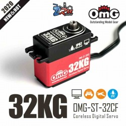 Servo OMG-ST-32CF/Rd 32Kg 0.08 Seg HV Digital Waterproft 8.4V