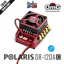Variador OMG OMG-POLARIS-DR-120AX3 Brushless ESC 120Amp, 2s-3 LiPo, BEC 5A