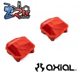Cubiertas de diferencial AR45 SCX10 III rojas Axial...