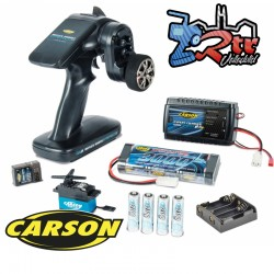 Combo Emisora Carson Reflex Wheel PRO3 2.4G + CS6 Servo + Bateria y Cargador Nimh