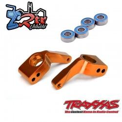 Soportes de eje corto Aluminio Anaranjados con rodamientos Traxxas TRA3652T