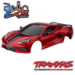 Carrocería Chevrolet Corvette Stingray Completa Pintada Roja TRA9311R