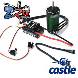 Combo Castle Mamba X SCT 25.2V 1/10 Motor con sensores 1415-2400 Waterproft 5mm Eje
