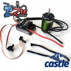 Combo Castle Mamba X SCT 25.2V 1/10 Motor con sensores 1410-3800 Waterproft 5mm Eje