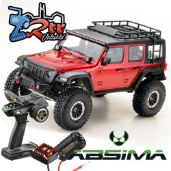 Absima Sherpa Crawler 1/10 4x4 CR3.4 Pro 6 Canales Luces RTR Rojo