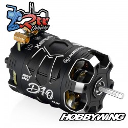 Motor Hobbywing Brushless Xerun D10 Drift 10.5T Sensores Negro