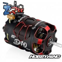Motor Hobbywing Brushless Xerun D10 Drift 10.5T Sensores Rojo