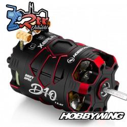 Motor Hobbywing Brushless Xerun D10 Drift 13.5T Sensores Rojo