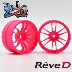 Llantas de competición Reve D UL12 Rosa Offset 6mm 2 unidades