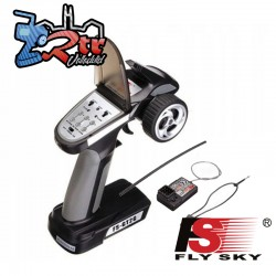 Radio Emisora FlySky FS-GT2G + Receptor FS-A3 2 Canales