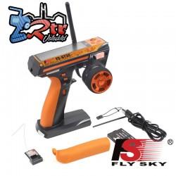 Radio Emisora Flysky  FS-GT3C 2.4GHz + Receptor FS-GR3E 3 Canales 10 Memorias