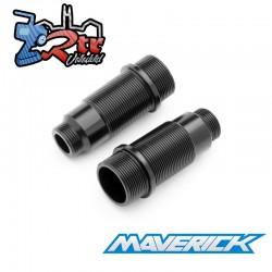 Juego de cuerpo de choque de aluminio negro 2 unidades Maverick MV150262