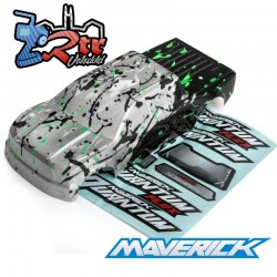 Cuerpo Plata/Verde Quantum MT 1/10 Monster Truck Maverick MV150174