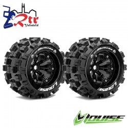 Ruedas 17mm Monster 1/8 Louise MT-MCROSS (4 Ruedas) Pegadas Rellenas