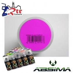 Pintura Absima Lexan Purpura Fluorescente con aditivo anti Nitro 150Ml