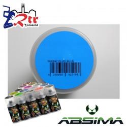 Pintura Absima Lexan Azul Fluorescente con aditivo anti Nitro 150Ml