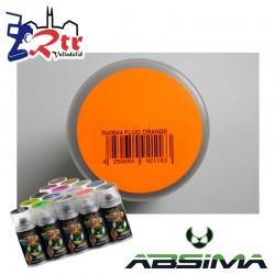 Pintura Absima Lexan Naranja Fluorescente con aditivo anti Nitro 150Ml