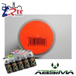 Pintura Absima Lexan Rojo Fluorescente  con aditivo anti Nitro 150Ml