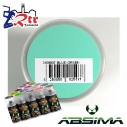 Pintura Absima Lexan Azul Verde con aditivo anti Nitro 150Ml