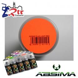 Pintura Absima Lexan Luz Roja Fluorescente con aditivo anti Nitro 150Ml