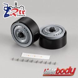 """Llantas 1.68"""" de Aluminio Killerbody 1/10"""