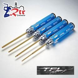 Juego de destornilladores hexagonales TFL 1,5/2,0/2,5/3,0mm Azul