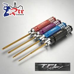 Juego de destornilladores hexagonales TFL 1,5/2,0/2,5/3,0mm Colores