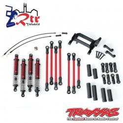Kit de elevación de brazo largo Rojo, TRX-4, completo TRA8140R