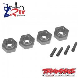 Hexagonos traxxas TRX-4 Gris 12mm TRA8269A