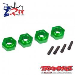 Hexagonos traxxas TRX-4 Verde 12mm TRA8269G