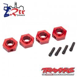 Hexagonos traxxas TRX-4 Rojo12mm TRA8269R