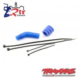 Acoplador de tubos, moldeado (azul) / deflector de escape TRA5245