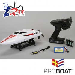 "Proboat React 17"" Self-Righting Escobillas Deep-V RTR"