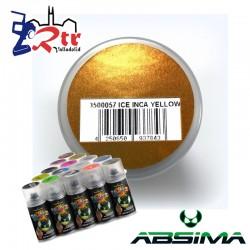 Pintura Absima Lexan Hielo Amarillo  con aditivo anti Nitro 150Ml