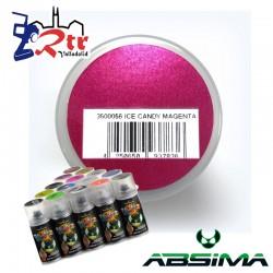 Pintura Absima Lexan Hielo Magenta con aditivo anti Nitro 150Ml