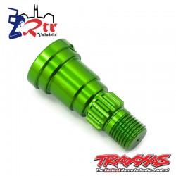 Eje de muñón, aluminio, anodizado Verde TRA7753g