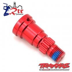 Eje de muñón, aluminio, anodizado Rojo TRA7753R
