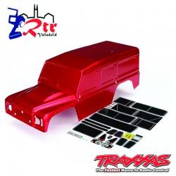 Carrocería Traxxas TRX-4 Defender Roja  TRA8011R