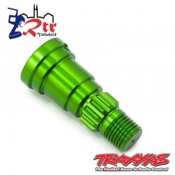 Eje de muñón, aluminio, anodizado verde TRA7768G