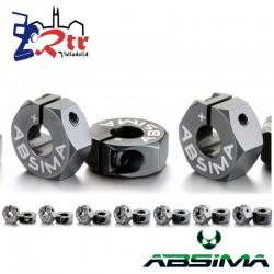 Hexágono 2 unidades Aluminio 2.25mm Outset
