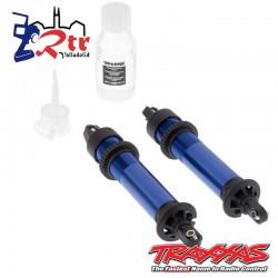 Amortiguadores, GTX, aluminio, azul anodizado TRA7761